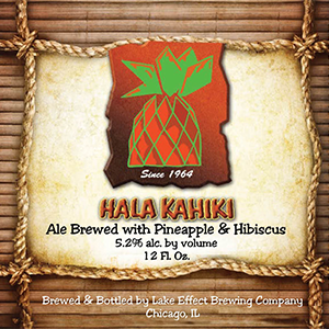 Hala Kahiki Pineapple Ale by Lake Effect Brewing